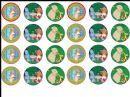 24 x In the Night Garden Edible Wafer Cup cake Top Toppers